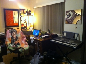 My current writing room, 2014.